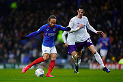 Marcus Harness of Portsmouth in action during the EFL Sky Bet League 1 match between Portsmouth and Shrewsbury Town at Fratton Park, Portsmouth, England on 15 February 2020.