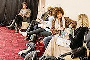 PROVIDENCE, RI - FEB 18: Mothers of models wait backstage prior to the J. Papa show during StyleWeek NorthEast on February 18, 2015 in Providence, Rhode Island. (Photo by Cat Laine)