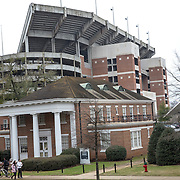 TUSCALOOSA,AL-JAN15: The football stadium at the University of Alabama in Tuscaloosa, is a central focus of the campus, January 15, 2016. The University of Alabama, founded in 1831, once served mainly Alabama students as the state's flagship institution. Now more than 60 percent of entering freshmen come from out of state. The university has had one of the largest shifts toward out-of-state enrollment in the country in the past decade. (Photo by Evelyn Hockstein/For The Washington Post)