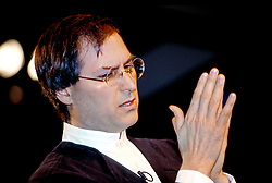 Steve Jobs speaks  at  Macworld 1997 in San Francisco, California.