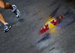 31.07.2011, Hungaroring, Budapest, HUN, F1, Grosser Preis von Ungarn, Hungaroring, im Bild Feature, ein Red Bull Logo spiegelt sich auf dem regennassen Boden // during the Formula One Championships 2011 Hungarian Grand Prix held at the Hungaroring, near Budapest, Hungary, 2011-07-31, EXPA Pictures © 2011, PhotoCredit: EXPA/ J. Feichter