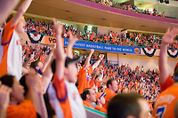 """The Greatest Basketball Fans in the World"" cheer on their New York Knicks in a playoff series at Madison Square Garden."