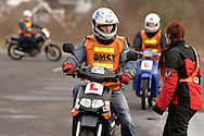 Learner riders doing Compulsory Basic Training before they can ride on the public highway....