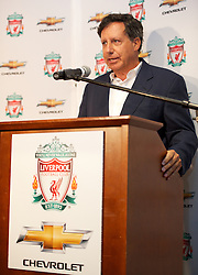 BOSTON, MA - Tuesday, July 24, 2012: co-owner and NESV Chairman Tom Werner during a press conference at Fenway Park, home of the Boston Red Sox, to announce a four-year sponsorship deal with car marker Chevrolet, ahead of their second preseason match of the North American tour, against AS Roma. (Pic by David Rawcliffe/Propaganda)