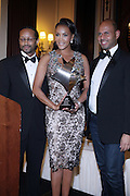 l to r: Kyle Donavan, Vivica A. Fox and Emil Welbekin at The 2009 NV Awards: A Salute to Urban Professionals sponsored by Hennessey held at The New York Stock Exchange on February 27, 2009 in New York City. ....