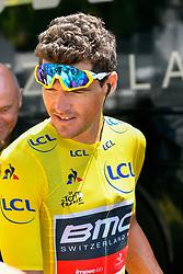 July 17, 2018 - Le Grand Bornand, France - Greg Van Avermaet maillot jaune lors du tour de France 2018_ etape annecy le grand bornand le 17 juillet 2018 (Credit Image: © Panoramic via ZUMA Press)