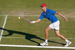LIVERPOOL, ENGLAND - Thursday, June 12, 2008: Frederik Sletting-Johnsen (NOR) in action during the Men's Singles on Day Three of the Tradition-ICAP Liverpool International Tennis Tournament at Calderstones Park. (Photo by David Rawcliffe/Propaganda)