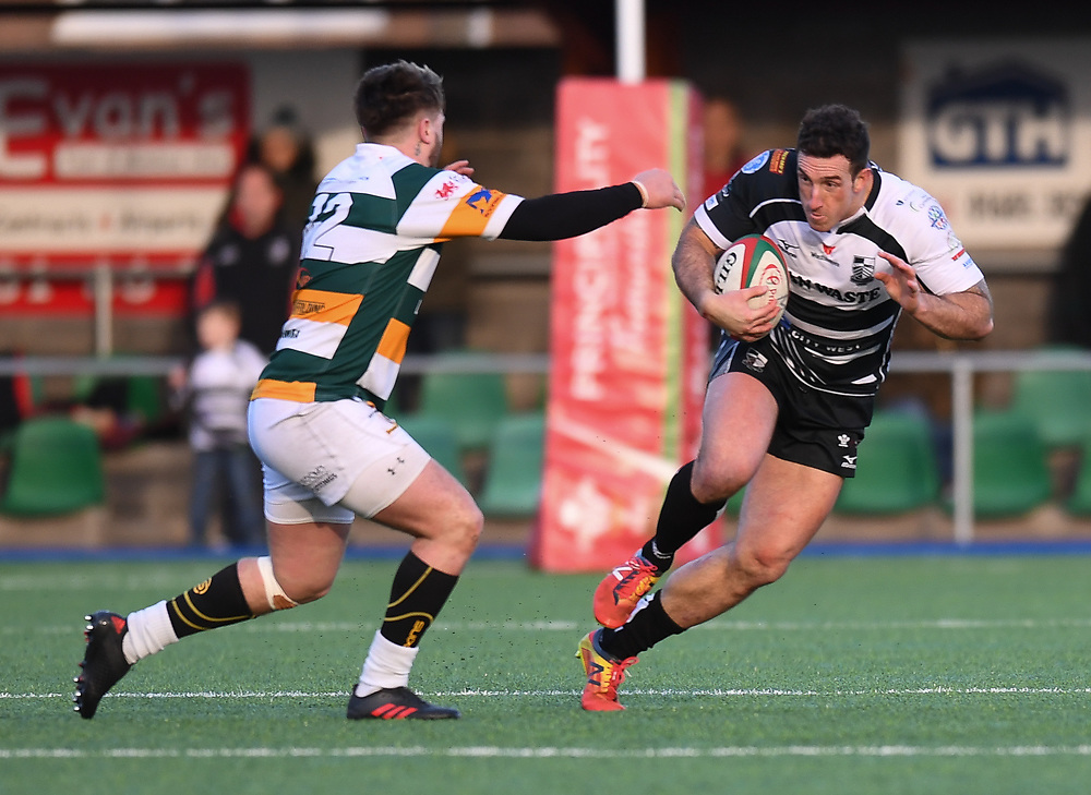 Pontypridds Dafydd Lockyer<br /> <br /> Photographer Mike Jones/Replay Images<br /> <br /> Principality Premiership Merthyr v Pontypridd - Saturday 17th February 2018 - The Wern Merthyr Tydfil<br /> <br /> World Copyright © Replay Images . All rights reserved. info@replayimages.co.uk - http://replayimages.co.uk
