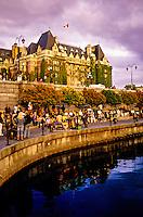 Inner Harbour (Fairmont Empress Hotel in back), Victoria, Vancouver Island, British Columbia, Canada