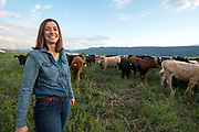 Cory Carmen, of Carman Ranch Provisions, at her home ranch in the Wallowa Valley, Oregon.