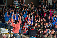 KELOWNA, CANADA - JANUARY 4: Fans start the crowd wave at the Kelowna Rockets against the Spokane Chiefs on January 4, 2017 at Prospera Place in Kelowna, British Columbia, Canada.  (Photo by Marissa Baecker/Shoot the Breeze)  *** Local Caption ***