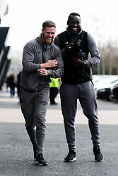Tomas Kalas of Bristol City and Famara Diedhiou of Bristol City arrives at  prior to kick off - Mandatory by-line: Ryan Hiscott/JMP - 22/02/2020 - FOOTBALL - Ashton Gate - Bristol, England - Bristol City v West Bromwich Albion - Sky Bet Championship