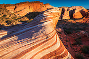 Evening light on the Fire Wave, Valley of Fire State Park, Nevada USA