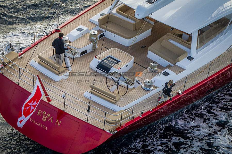 S/Y Doryan, Baltic 116. First sail test in Malta. Images by Jesus Renedo