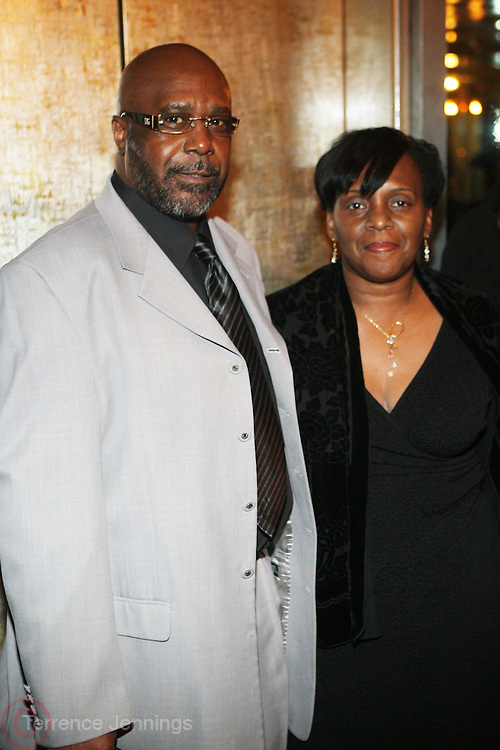 l to r: William and Valerie Bell at Rev. Al Sharpton's 55th Birthday Celebration and his Salute to Women on Distinction held at The Penthouse of the Soho Grand on October 6, 2009 in New York City