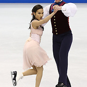Madison Chock and Evan Bates compete during the 2014 US Figure Skating Championships at the TD Garden on January 11, 2014 in Boston, Massachusetts.