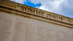 The Australian National Memorial at Villers-Bretonneux Military Cemetery near the Somme in northern France.  There are 2,144 Commonwealth servicemen of the First World War buried or commemorated in this cemetery, 605 of whom remain unidentified.<br /> <br /> (c) Andrew Wilson | Edinburgh Elite media