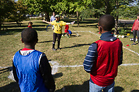 "The AYSO youth soccer league kicked off its new season Saturday afternoon, September 9th, 2017 with a meet and greet for parents and players in the soccer fields in Jackson Park located at 6100 S. Stony Island.<br /> <br /> 9035 – AYSO youth soccer league Director, Louise Mcurry talk about expectations with players and parents.<br /> <br /> Please 'Like' ""Spencer Bibbs Photography"" on Facebook.<br /> <br /> Please leave a review for Spencer Bibbs Photography on Yelp.<br /> <br /> All rights to this photo are owned by Spencer Bibbs of Spencer Bibbs Photography and may only be used in any way shape or form, whole or in part with written permission by the owner of the photo, Spencer Bibbs.<br /> <br /> For all of your photography needs, please contact Spencer Bibbs at 773-895-4744. I can also be reached in the following ways:<br /> <br /> Website – www.spbdigitalconcepts.photoshelter.com<br /> <br /> Text - Text ""Spencer Bibbs"" to 72727<br /> <br /> Email – spencerbibbsphotography@yahoo.com"