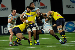 January 8, 2018 - Nanterre, Hauts de Seine, France - Clermont Flanker VIKTOR KOLELISHVILI in action during the French rugby championship Top 14 match between Racing Metro 92 and Clermont at U Arena Stadium in Nanterre - France.Racing won 58-6 (Credit Image: © Pierre Stevenin via ZUMA Wire)