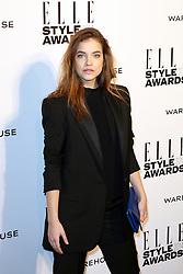 © Licensed to London News Pictures. 18/02/2014, UK. Barbara Palvin, ELLE Style Awards, One Embankment, London UK, 18 February 2014. Photo credit : Richard Goldschmidt/Piqtured/LNP