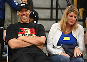 LaVar Ball laughs sitting next to wife, Tina Ball, during a Drew League basketball game, Saturday, June 8, 2019, in Los Angeles.  (Dylan Stewart/Image of Sport)