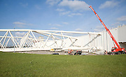 Maeslant Barrier storm surge flood defence, New Waterway, Hook of Holland, Rotterdam, Netherlands