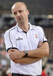 Head coach of Slovenia Jure Zdovc during the EuroBasket 2009 Group F match between Slovenia and Turkey, on September 16, 2009 in Arena Lodz, Hala Sportowa, Lodz, Poland.  (Photo by Vid Ponikvar / Sportida)