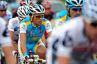CYCLING - TOUR DE FRANCE 2010 - SPA (BEL) - 05/07/2010 - PHOTO : VINCENT CURUTCHET / DPPI - <br /> STAGE 2 - BRUXELLES (BEL) > SPA (BEL) - ALBERTO CONTADOR (ESP) / ASTANA