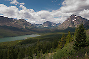 View of Two Medicine Lake, Glacier National Park, Montana; August 2011