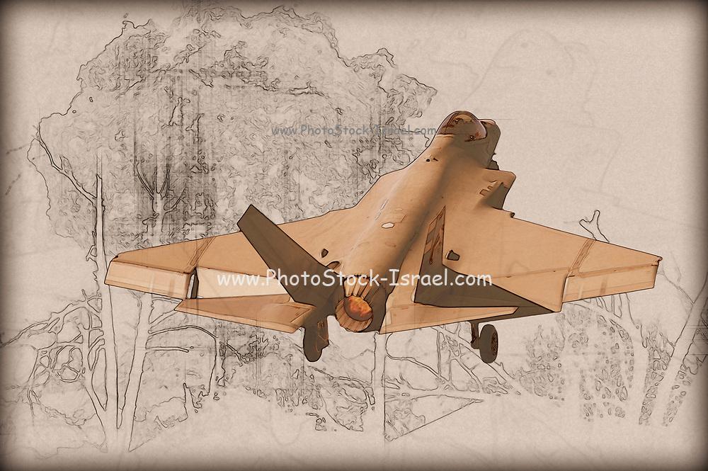 Digitally enhanced image of a US Marine Corps F-35 Lightning II