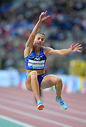 Maryna Bekh-Romanchuk (UKR) places fourth in the women's long jump at 22-1 (6.73m) during the IAAF Diamond League final at the 44th Memorial Van Damme at King Baudouin Stadium, Friday, Sept. 6, 2019, in Brussels, Belgium. (Jiro Mochizuki/Image of Sport)