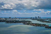 Venetian Islands & Miami Beach Skyline, Biscayne Bay