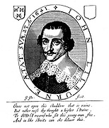 Portrait and Coat of Arms of John Lilburne 1614?-1657. From title page of An answer to nine arguments. (1645 edition)He became known to his contemporaries as 'Freeborn John.' He described himself as 'a lover of his country and sufferer for the common liberty
