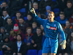 BIRKENHEAD, ENGLAND - Saturday, January 3, 2015: Tranmere Rovers' goalkeeper Owain Fon Williams in action against Swansea City during the FA Cup 3rd Round match at Prenton Park. (Pic by David Rawcliffe/Propaganda)