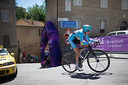 Olena Pavlukhina (UKR) of Astana Women Cycling Team rides near the top of the final climb of Stage 5 of the Giro Rosa - a 12.7 km individual time trial, starting and finishing in Sant'Elpido A Mare on July 4, 2017, in Fermo, Italy. (Photo by Balint Hamvas/Velofocus.com)