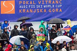 Fans during the 2nd Run of 7th Men's Giant Slalom - Pokal Vitranc 2013 of FIS Alpine Ski World Cup 2012/2013, on March 9, 2013 in Vitranc, Kranjska Gora, Slovenia. (Photo By Vid Ponikvar / Sportida.com)