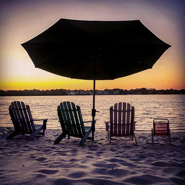 Sunset silhouette on Lake Gertrude, Mount Dora, Florida