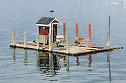 A fisherman's floating dock, Beals Island, Maine.