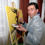 NLD/Amsterdam/20060210 - Bekende Nederlanders schilderen voor de veiling van de stichting Lezen en Schrijven, Paul Schulten