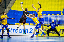 Horzen Kristijan of RK Celje Pivovarna Lasko and Nenad Drasko of RK Celje Pivovarna Lasko during handball match between RK Celje Pivovarna Lasko (SLO) and SG Flensburg Handewitt (GER) in 3rd Round of EHF Men's Champions League 2018/19, on September 30, 2018 in Arena Zlatorog, Celje, Slovenia. Photo by Grega Valancic / Sportida