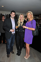 Left to right, ZAFAR RUSHDIE, LADY CLARA PAGET and NATHALIE COYLE at a party to launch Senkai - London's first modern Japanese-inspired restaurant at 65 Regent Street, London on 26th October 2011.