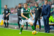 Lewis Stevenson (#16) of Hibernian FC during the Ladbrokes Scottish Premiership match between Hibernian and St Johnstone at Easter Road, Edinburgh, Scotland on 3 November 2018.