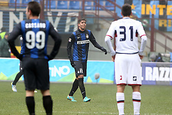 "22.12.2012, Giuseppe-Meazza-Stadion, Mailand, ITA, Serie A, Inter Mailand vs CFC Genua, 18. Runde, im Bild Ricardo Alvarez Inter. infortunio Milano 22/12/2012 Stadio ""S.Siro"".Football Calcio Serie A 2012/13.Inter v Genoa.Foto Insidefoto Paolo Nucci // during the Italian Serie A 18th round match between Inter Milan and Genoa CFC at the Giuseppe Meazza Stadium, Milan, Italy on 2012/12/22. EXPA Pictures © 2012, PhotoCredit: EXPA/ Insidefoto/ Paolo Nucci..***** ATTENTION - for AUT, SLO, CRO, SRB, BIH and SWE only *****"