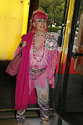 ZANDRA RHODES,  Private view for three exhibitions, Sixties Fashion, Sixties Graphics and Che Guevara: Revolutionary and Icon. V&A, 5 June 2006. ONE TIME USE ONLY - DO NOT ARCHIVE  © Copyright Photograph by Dafydd Jones 66 Stockwell Park Rd. London SW9 0DA Tel 020 7733 0108 www.dafjones.com