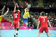 DESCRIZIONE : Handball Jeux Olympiques Londres Quart de Finale<br /> GIOCATORE : DODER Dalibor<br /> SQUADRA : Danemark Homme<br /> EVENTO : Handball Jeux Olympiques<br /> GARA : Danemark Suede<br /> DATA : 08 08 2012<br /> CATEGORIA : handball Jeux Olympiques<br /> SPORT : HANDBALL<br /> AUTORE : JF Molliere <br /> Galleria : France JEUX OLYMPIQUES 2012 Action<br /> Fotonotizia : France Handball Homme Jeux Olympiques Londres Quart de Finale Basketball Arena<br /> Predefinita :