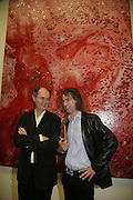 RICHARD CORK AND IVOR BRAKA, Beyond Belief-Damien Hirst. White Cube Hoxton and Mason's Yard.Party  afterwards at the Dorchester. Park Lane. 2 June 2007.  -DO NOT ARCHIVE-© Copyright Photograph by Dafydd Jones. 248 Clapham Rd. London SW9 0PZ. Tel 0207 820 0771. www.dafjones.com.