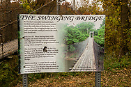 Pawhuska, Oklahoma, The Swinging Bridge, Bird Creek, built in 1926 and refurbished 1970
