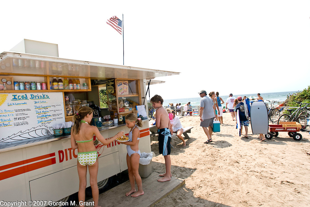 Montauk, NY - 8/15/07 -   The Ditch Witch, a locally famous, family-owned surfer hangout at Ditch Plains Beach in Montauk, NY August 15, 2007.    (Photo by Gordon M. Grant)