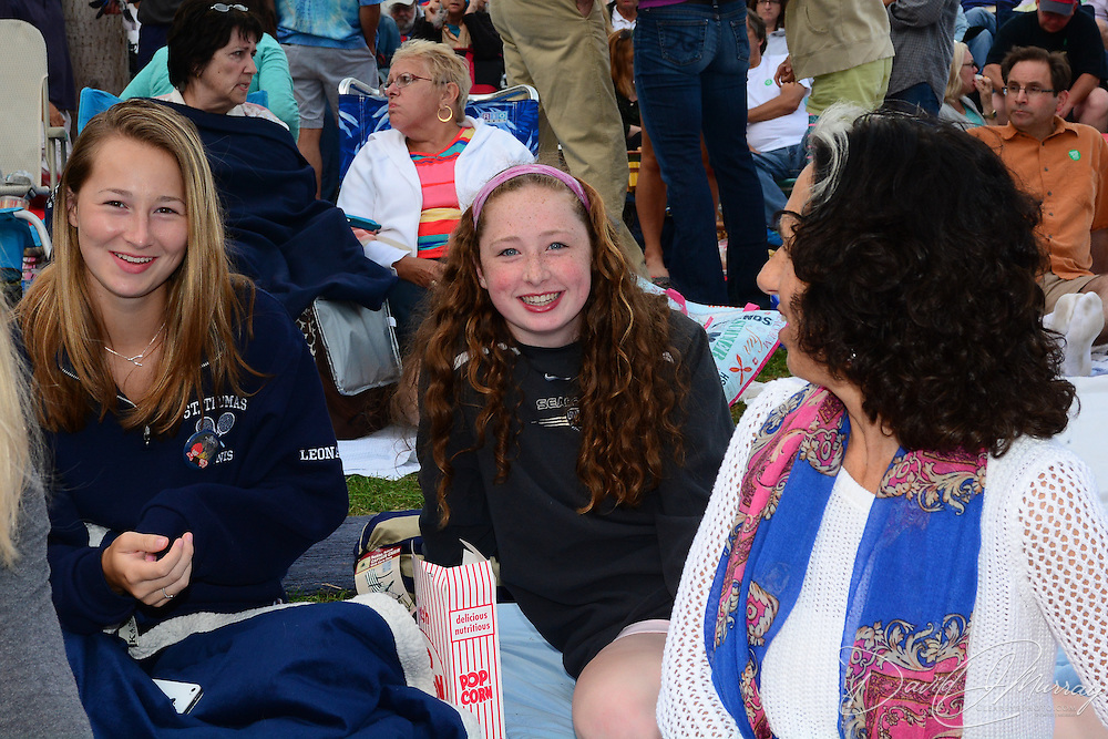 Fans hanging out on the lawn before Judy Collins performs in a Prescott Park Arts Festival presentation at Prescott Park in Portsmouth, NH, in August 2013