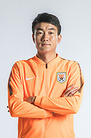 **EXCLUSIVE**Portrait of Chinese soccer player Dai Lin of Shandong Luneng Taishan F.C. for the 2018 Chinese Football Association Super League, in Ji'nan city, east China's Shandong province, 24 February 2018.